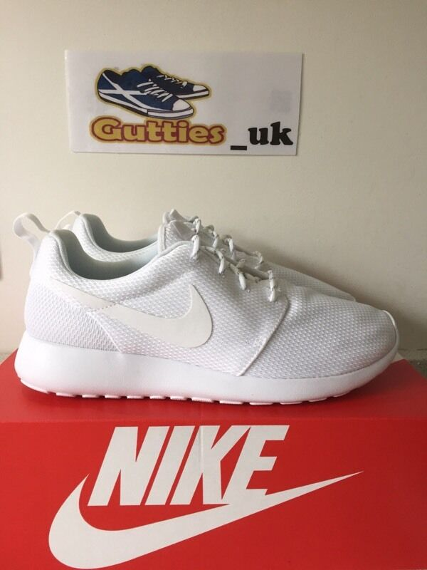 Brand New In Box Nike Roshe Run All White UK 8 , 8.5 & 9