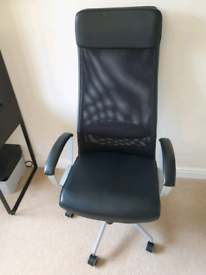 Ikea Markus swivel Office Chair Black RrP £179. Excellent Condition