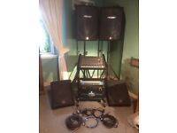 Peavey quality PA system 1200w with soundcraft mixer, wedges. Suit band/DJ