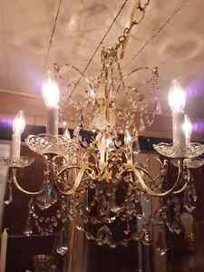 Vintage Six-Arm Shonbek Chandelier