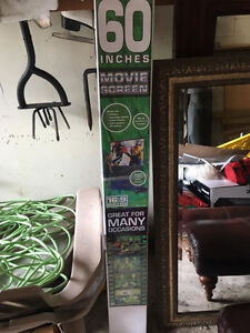 60 inch Projector screen brand new never used