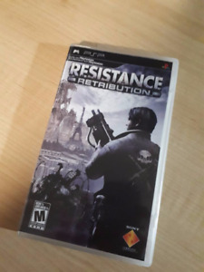 RESISTANCE RETRIBUTION Mint Condition PSP Game
