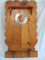 Battery Operated Country Motif Wall Clock On A Large Wooden Wall