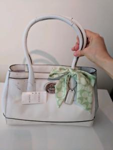 White cream Coach Purse Handbag