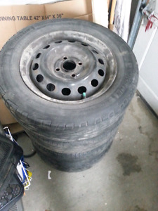4 summer tires on rims need to sell asap