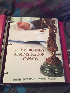 LAW AND BUSINESS ADMINISTRATION IN CANADA 14TH EDITION