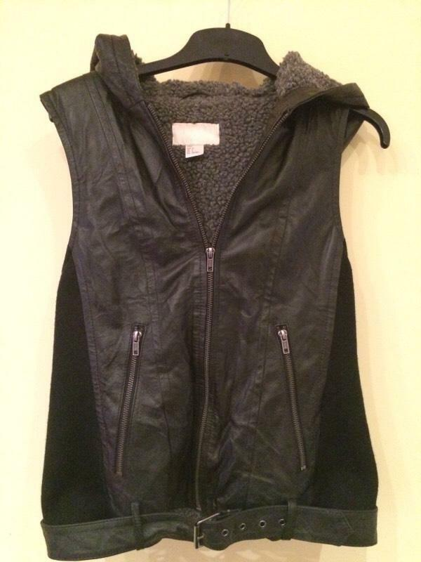 Leather Vest/hoodie Fur