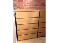 Ikea malm 6 drawer unit