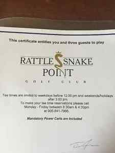 Rattle Snake Golf Club 4 Person Pass With Cart