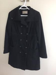 Manteau noir automne-hiver