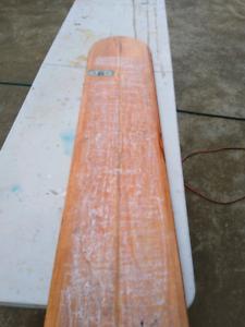 wooden surfboard alia wall piece