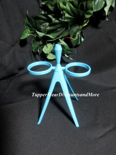 Tupperware NEW Blue Midget Salt & Pepper Shaker STAND ONLY w/Toothpick Holder