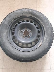 Four tires plus a spare. 215 60r 15