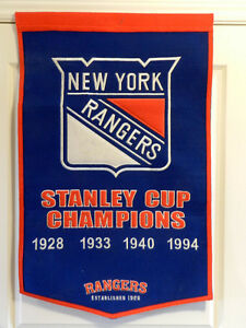 NEW YORK RANGERS Large Wool Dynasty Banner