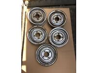 Classic mini steel wheels set of 5