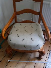Vintage armchair. Possibly Edwardian Oak