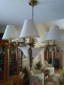 Solid Antique Brass Dining Room Light Fixture