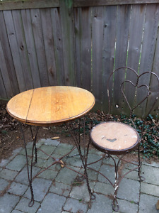 Antique Ice-Cream Table and Chair