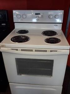 """*** USED *** WHIRLPOOL 30"""" WHITE COIL TOP RANGE   S/N:R34124106   #STORE222"""