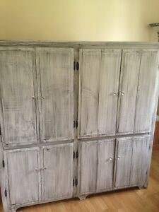 Solid wood entertainment/storage cabinet