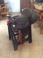 Saddle and bridles