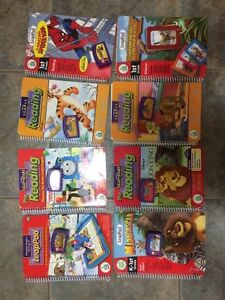 Leap pad learning system with 8 books and cartridges London Ontario image 1