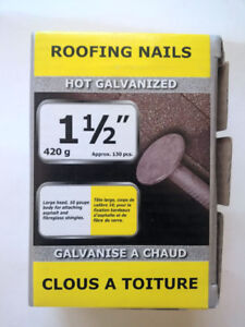 1 lb. of galvanized roofing nails brand new in box 1 1/2""