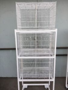Set of 3 canary BREEDING CAGES all new with STAND