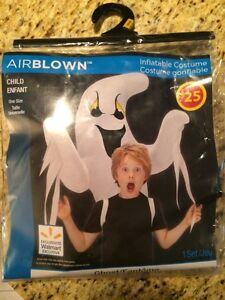 Brand New!  Child's Airblown Inflatable Ghost Costume