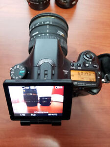 Sony A77 + 3 lenses + accessories, perfect condition