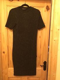 Dorothy Perkins Black Glitter Dress. Size 12.