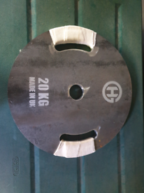 x2 Olympic free weight plates of 20kgs