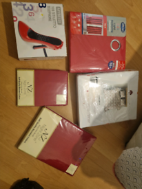 Red bedroom accessories (all new unopened)