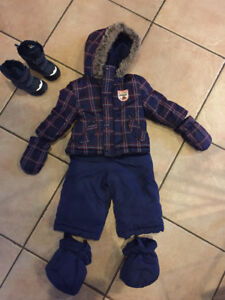 Boys 6-12 month snowsuit with boots
