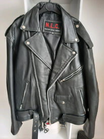 Leather biker jacket-SOLD