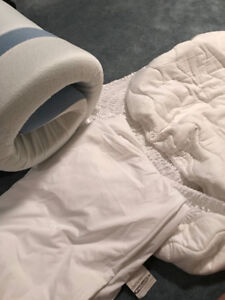TWIN XL MATTRESS PROTECTOR, COVER, AND TOPPER SET