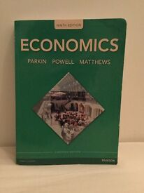 Book Economics 9th Edition Pearson with MyEconLab! Parkin Powell Matthews Uni of Leeds