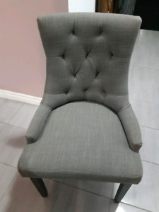 EUC - Grey accent chairs