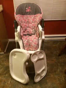 SLIM Fold High Chair-Washable,Heights,Basket,Harness,etc