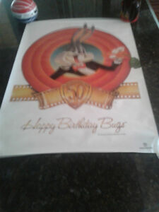 BUGS BUNNY 50TH ANNIVERSARY POSTER