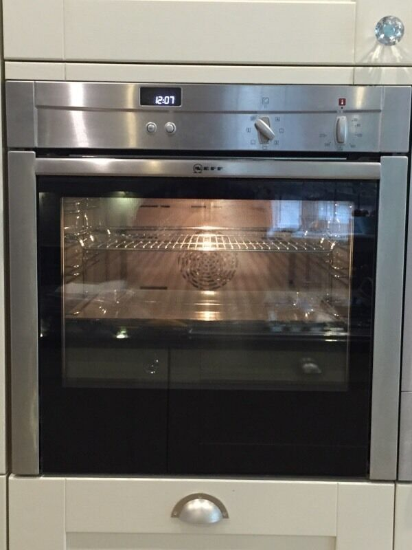 neff b44s32n3gb slide hide electric oven stainless steel in woking surrey gumtree. Black Bedroom Furniture Sets. Home Design Ideas