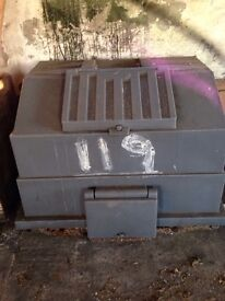 Big solid coal bunker