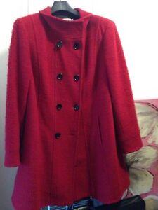 Manteau d'hiver en laine taille plus gr. 16