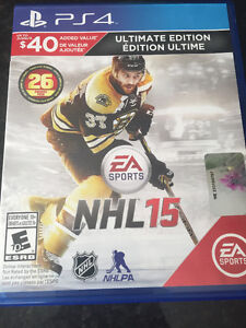 NHL 15 and NHL 16 for PS4