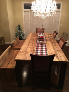 Rustic farmhouse dining table ,reclaimed wood !