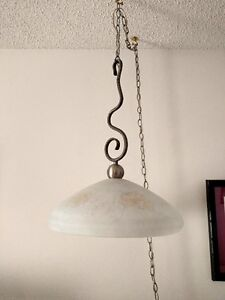 Hanging lamp with unusual hanger