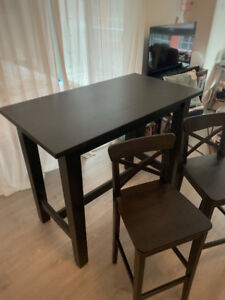 IKEA Stornas bar table and 2 stools