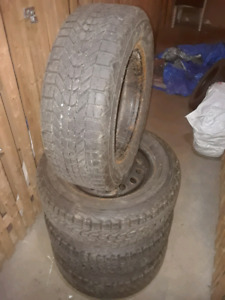 Firestone Winterforce Winter Tires 215/65 R16 On Rims