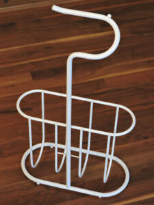 Toilet Roll Holder with Attached Magazine Rack