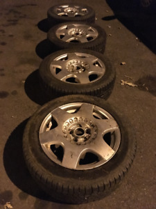 summer tires and rims for volkswagen 205/55/R16